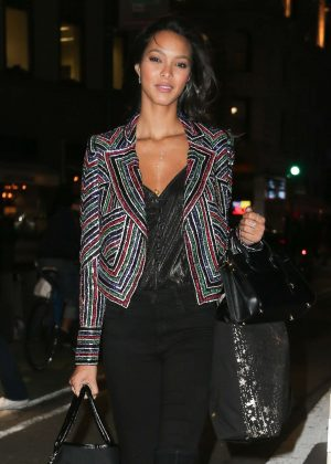 Lais Ribeiro at Victoria's Secret offices in New York City