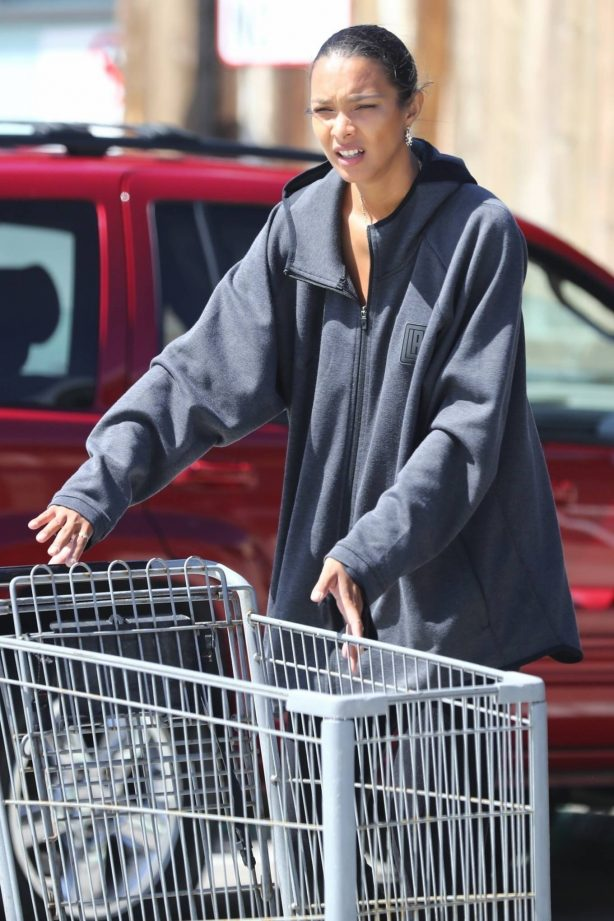 Lais Ribeiro - Grocery shopping at Vintage Grocers in Malibu