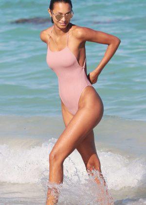 Lais Ribeiro in Swinsuit in Miami Beach