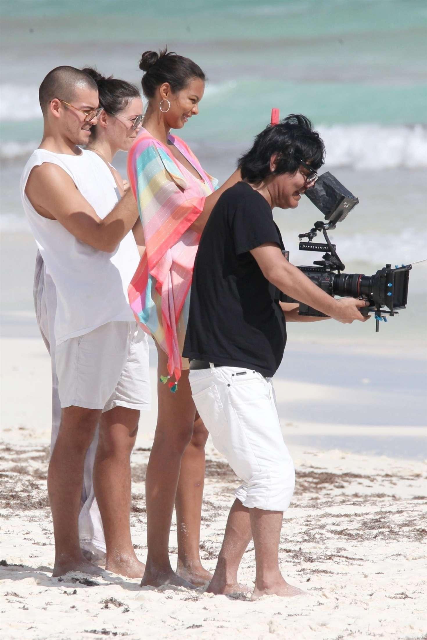 Lais Ribeiro 2018 : Lais Ribeiro on the beach in Tulum -06