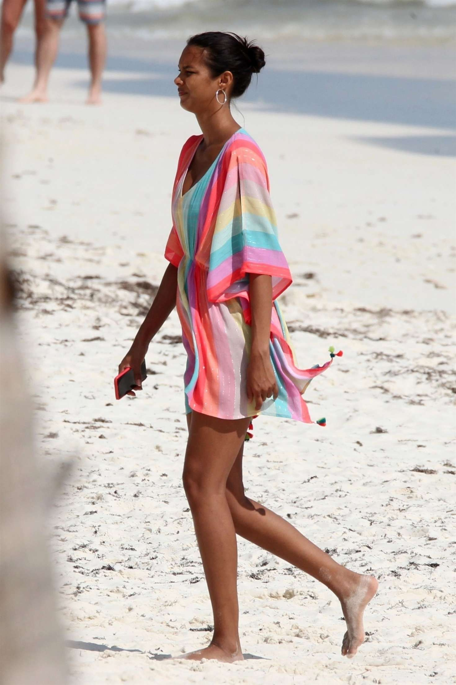 Lais Ribeiro on the beach in Tulum