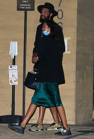 Lais Ribeiro - Out for a date night at Nobu in Malibu