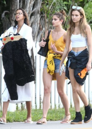 Lais Ribeiro, Taylor Hill and Josephine Skriver - Leaving a Victoria's Secret shoot in Miami
