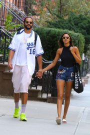 Lais Ribeiro with her boyfriend out in Chelsea