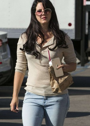 Lana Del Ray in Jeans out in Los Angeles