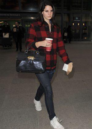 Lana Del Rey - Arriving at Heathrow Airport in London