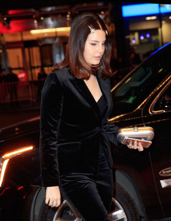 Lana Del Rey - Arriving to the Clive Davis Annual Pre-Grammy Gala in NYC