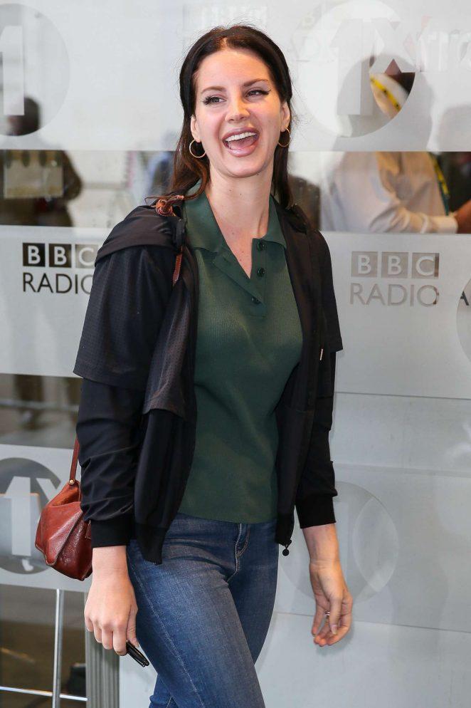 Lana Del Rey at BBC Radio 1 Studios in London