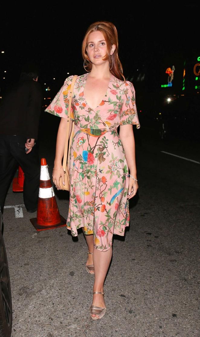 Lana Del Rey at Lady Gagas 30th Birthday Party -01