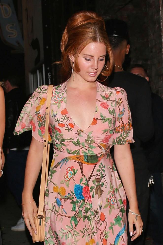 Lana Del Rey at Lady Gaga's 30th Birthday Party in LA