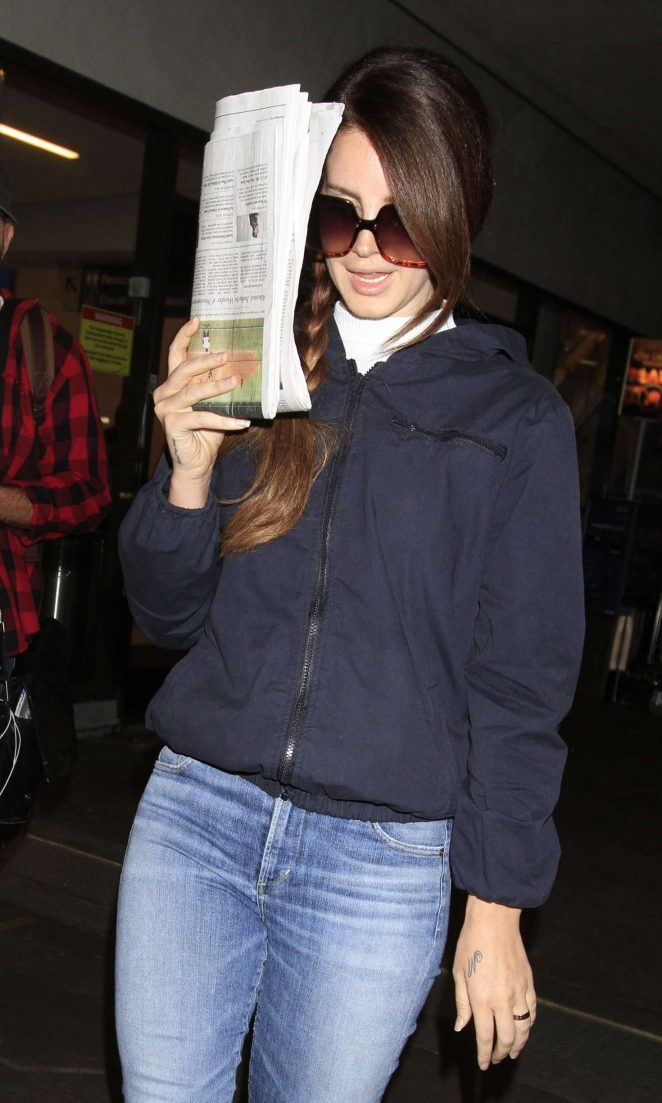 Lana Del Rey at LAX airport in Los Angeles
