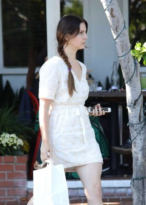 Lana Del Rey at Mauro's Cafe in West Hollywood