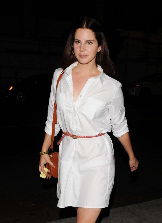 Lana Del Rey - Bosco Sodi Art Opening in Los Angeles