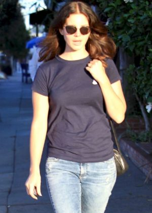 Lana Del Rey has lunch at The Little Door in Hollywood