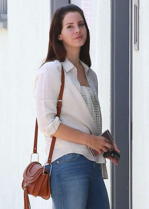 Lana Del Rey - Heads to the studio in Santa Monica