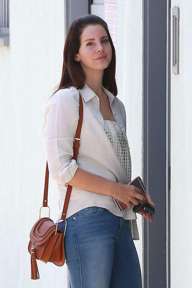 Lana Del Rey - Heads to the studio in Santa Monica
