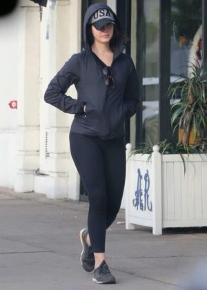 Lana Del Rey in Black Tights out in Hollywood