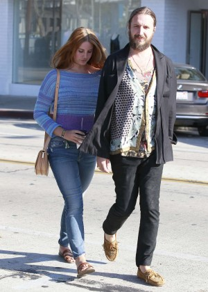 Lana Del Rey in Jeans at Cecconi's in West Hollywood