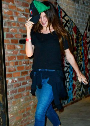 Lana Del Rey in Jeans at TAO in LA