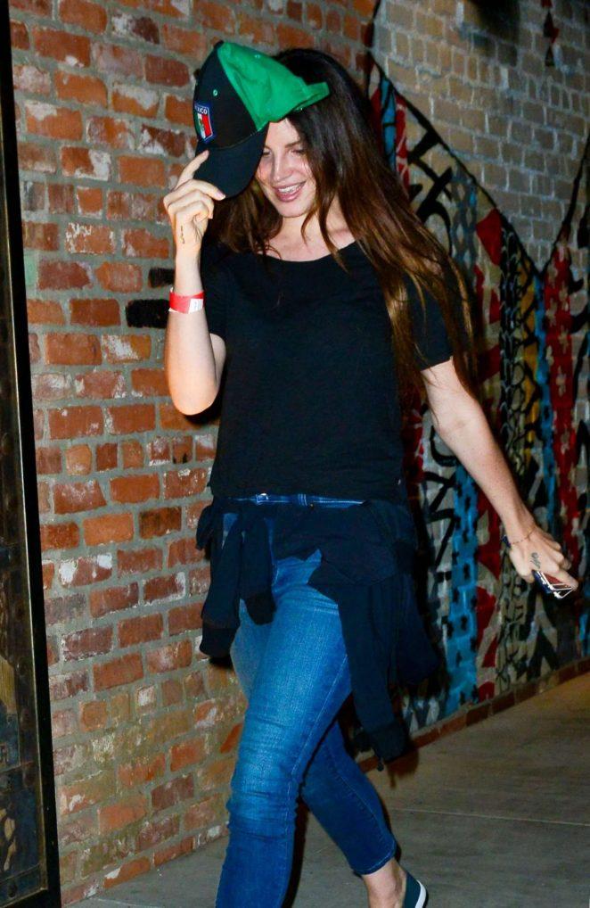 Lana Del Rey in Jeans at TAO -04