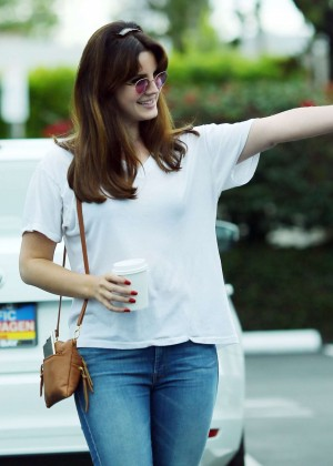 Lana Del Rey in Jeans out in Los Angeles