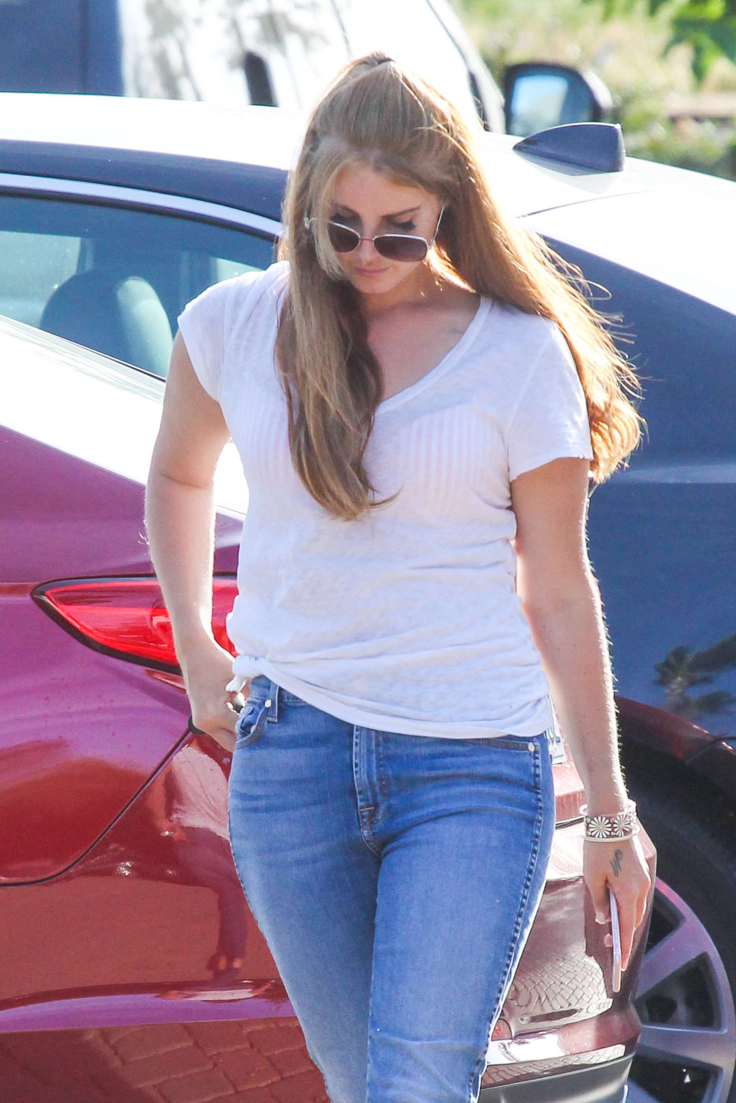 Lana Del Rey in Jeans out in LA
