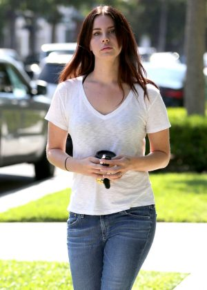 Lana Del Rey in Jeans Out in West Hollywood