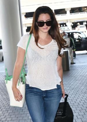 Lana Del Rey in Jeans at LAX airport in LA