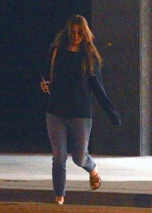 Lana Del Rey leaves a restaurant in Los Feliz