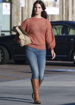 Lana Del Rey - Leaving a Grocery Store in Malibu