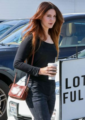 Lana Del Rey - Leaving a Hair Salon in Beverly Hills