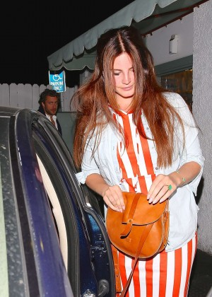 Lana Del Rey - Leaving Giorgio Baldi in Santa Monica