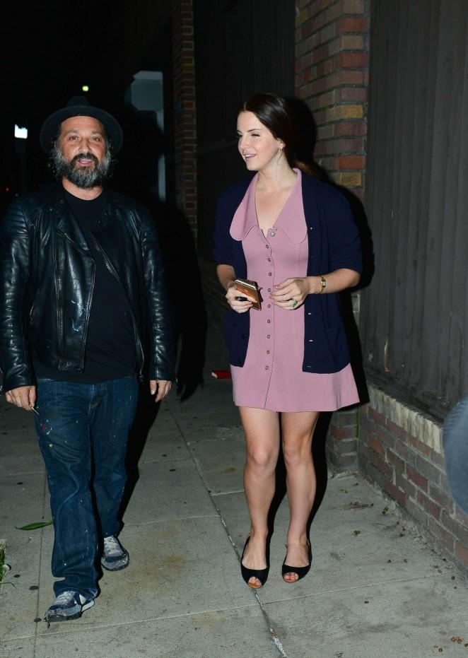 Lana Del Rey in Mini Dress -06