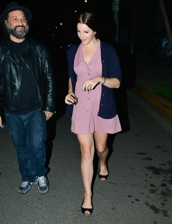 Lana Del Rey in Mini Dress -13