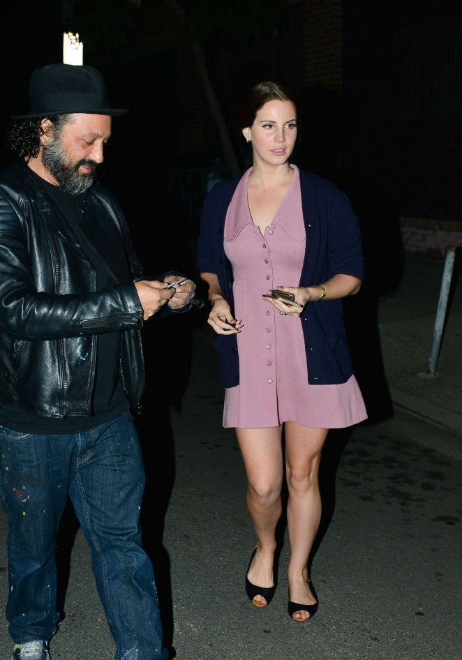 Lana Del Rey in Mini Dress -16