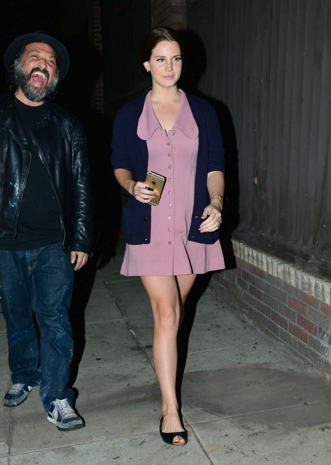 Lana Del Rey in Mini Dress -19