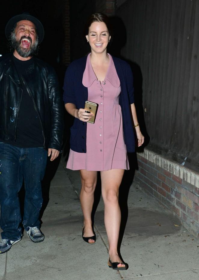 Lana Del Rey in Mini Dress -23