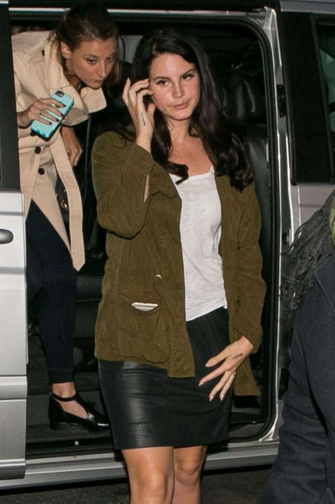 Lana Del Rey out in Paris
