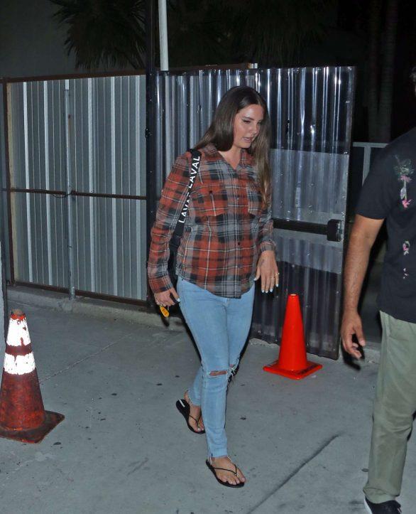 Lana Del Rey 2019 : Lana Del Rey seen leaving church service tonight in Beverly Hills-03
