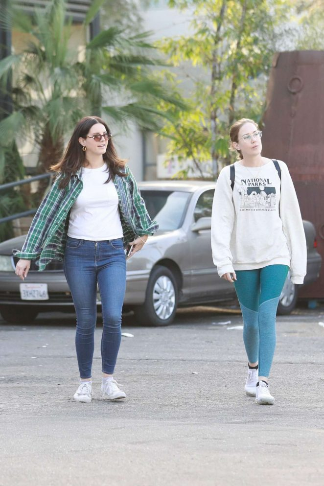 Lana Del Rey – Shopping with a friend in West Hollywood