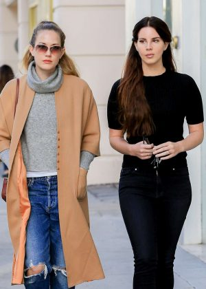 Lana Del Rey With a Friend Shopping in West Hollywood