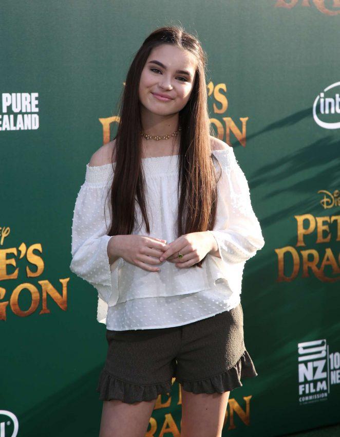 Landry Bender - 'Pete's Dragon' Premiere in Hollywood