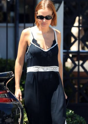 Lara Bingle - Leaves Gracias Madre in West Hollywood