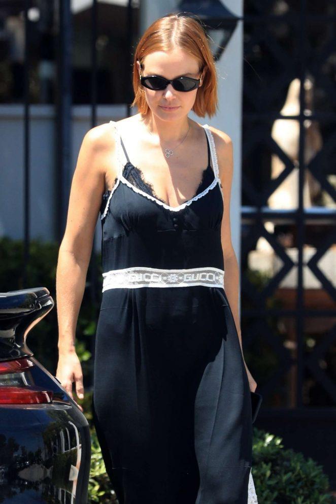 Lara Bingle – Leaves Gracias Madre in West Hollywood