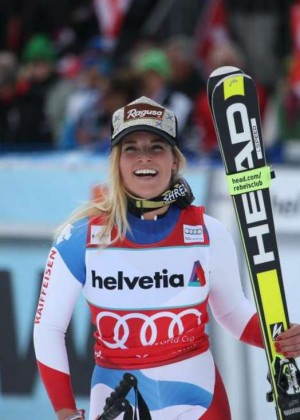 Lara Gut - Wins the World Cup 2015/16 in Lenzerheide