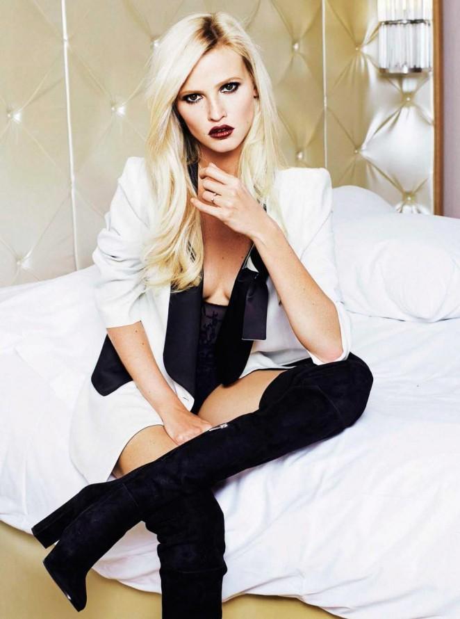 Lara Stone - Glamour Spain Magazine (December 2015)