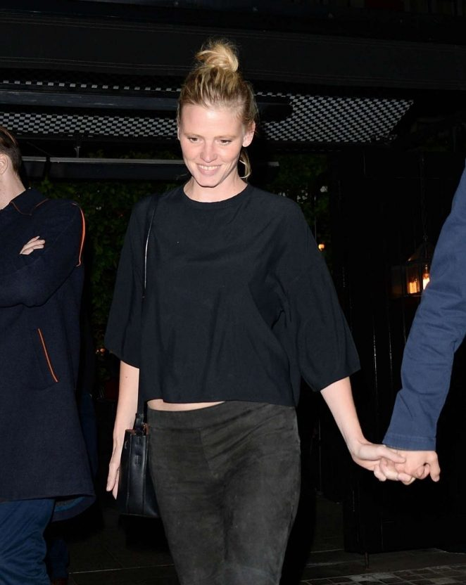 Lara Stone - Leaving Chiltern Firehouse in London
