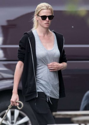 Lara Stone out in North London