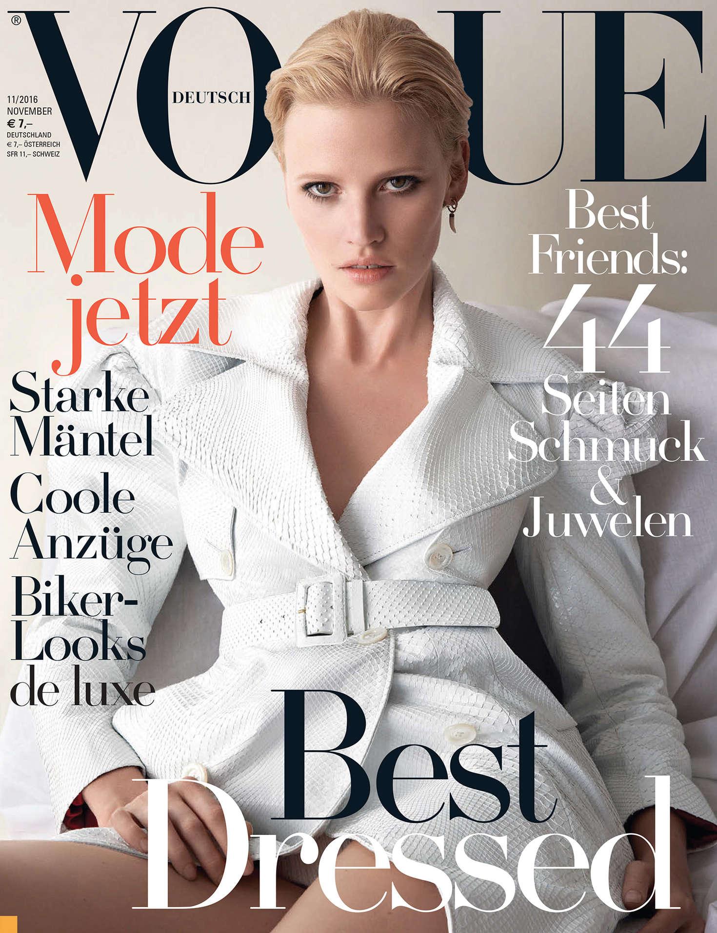 Lara Stone Vogue Germany Magazine November 2016