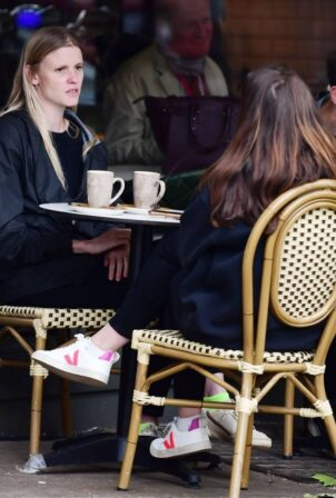 Lara Stone - With a friend out in London's Hampstead